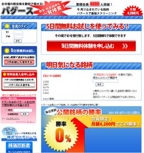 株式情報サイト バグース