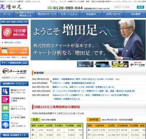 株価チャートのソフトは増田足