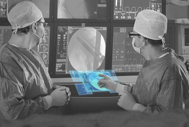 空中ディスプレイ 医療現場のイメージ画像