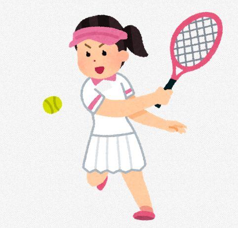 テニスプレーヤーのイラスト