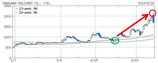 多摩川HDのチャート画像